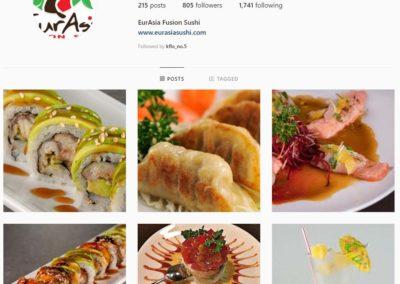 Eurasia Fusion Sushi Instagram