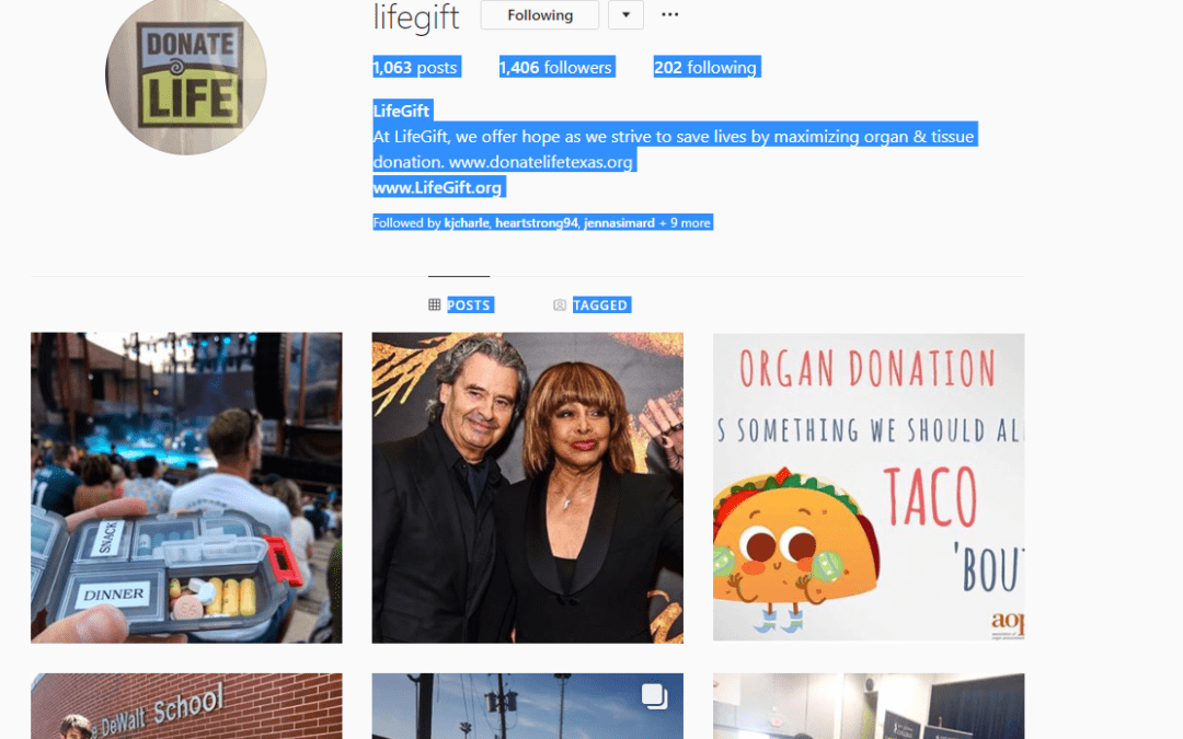 LifeGift Instagram